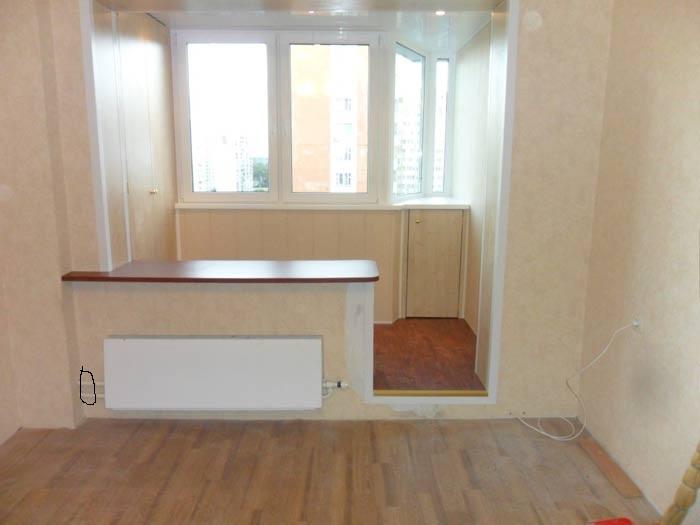Совмещение балкона с комнатой дизайн фото.